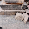 Ancient Ephesus, Turkey - Crusader cross reused in base of a column