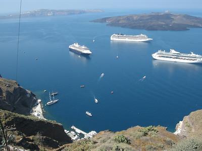 view from Fira, Santorini