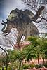 Erawan Wat three-headed elephant (HDR)