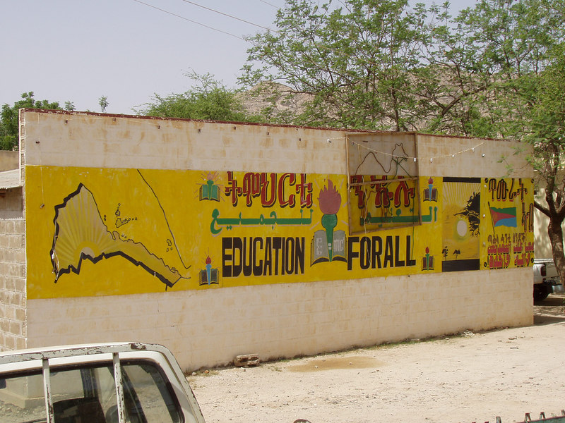 Murals are common