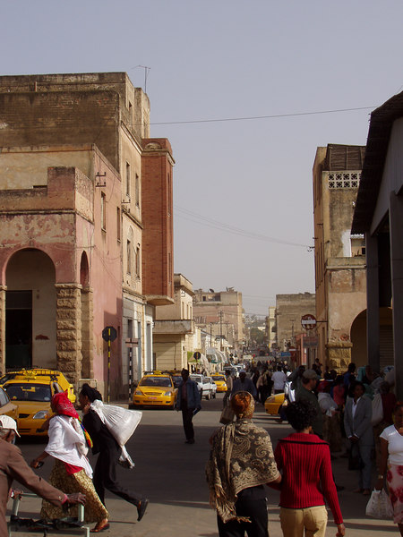 A typical street scene, Asmara