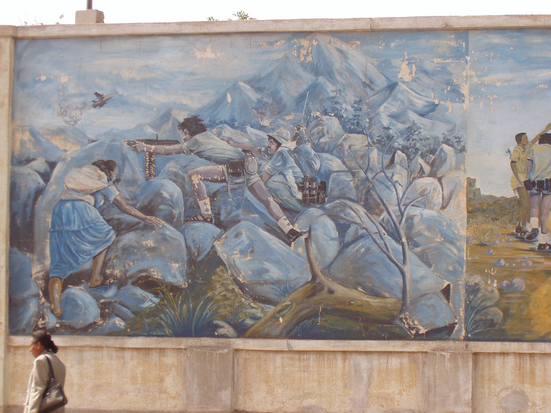 War murals are a common sight