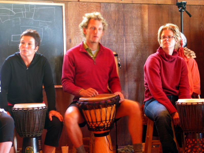 African Drum Workshop - Esalen Institute, Big Sur, July 2003