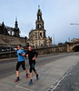 Runners, bikers and walkers are out early in Dresden