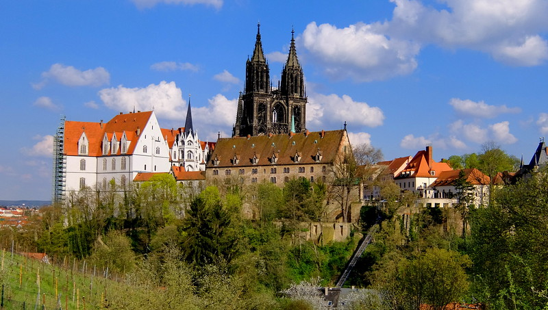 The towers of the cathedral and the former bishop's castle in Meissen