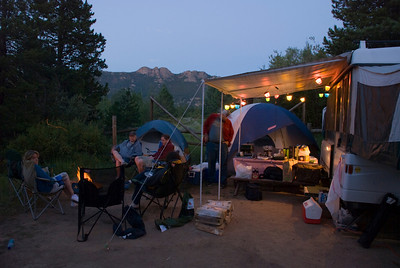 "I wouldn't really call it ""Roughing it"" but hell, it's my kind of camping!"