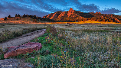Sunrise at the Flatirons in Boulder, Co