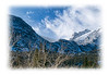 Another view of mountain peaks in Estes Park in the winter; detail in the image is best viewed in a larger size