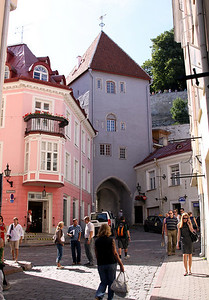 Tower gate (built 1380) on Pikk Jalg between Toompea and the Lower Town.