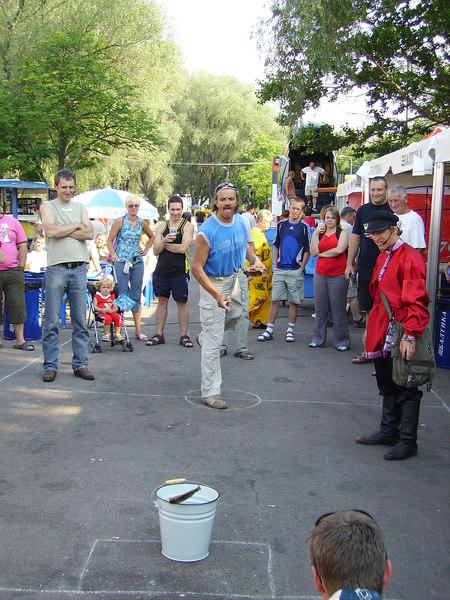 Fish throwing at Tallinn Beer Festival