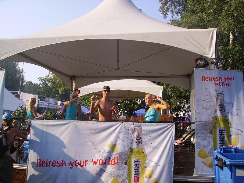 Go-go girls at Tallinn Beer Festival