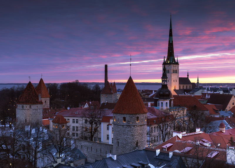 Sunrise Overlooking the Old Town of Tallinn