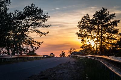 Rannu-Jõesuu vana sild päikeseloojangul / In Estonia old bridge of Rannu-Jõesuu