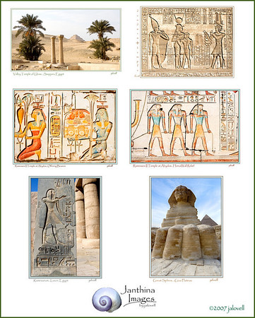 Thumbnail sheet for the Eternal Egypt Card Set.