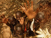 Group of children in the Mursi tribe (South of Ethiopia)