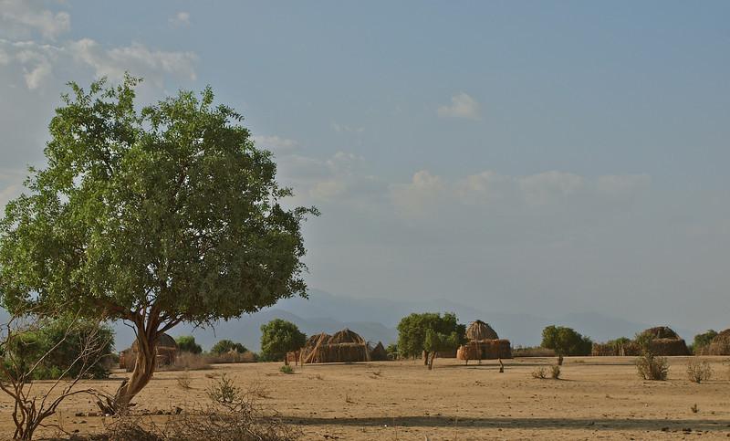 Village in the savanna (Arbore tribe)