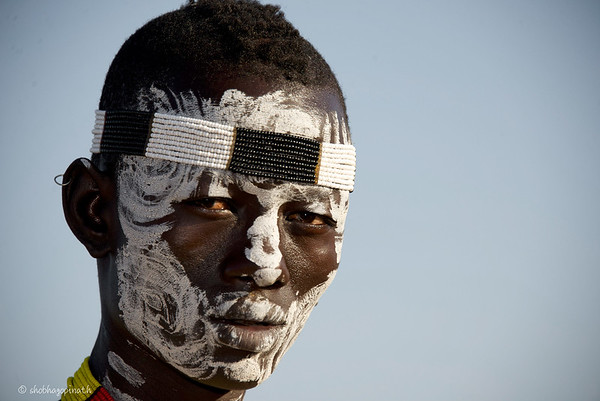 Karo warrior, Omo Valley, Ethiopia