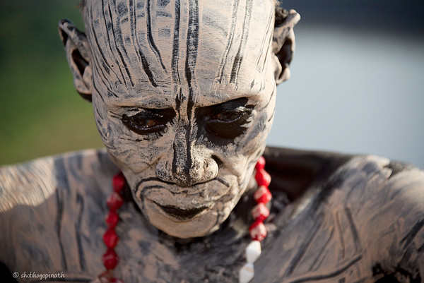 Karo elder, Omo Valley, Ethiopia