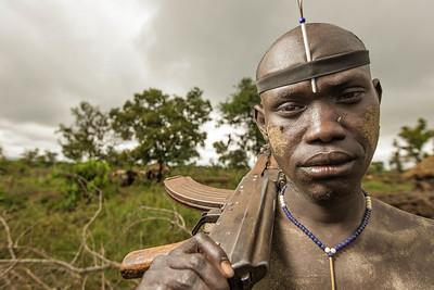 The Mursi Warrior (Omo Valley, Ethiopia)