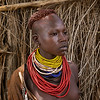 Girl of the Karo Tribe, Omo Valley, Southern  Ethiopia