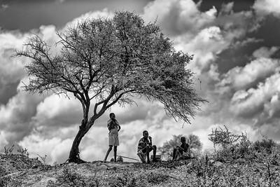 Children Tending Goats (Omo Valley, Ethiopia)