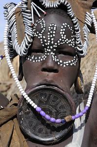 Mursi people in Ethiopia