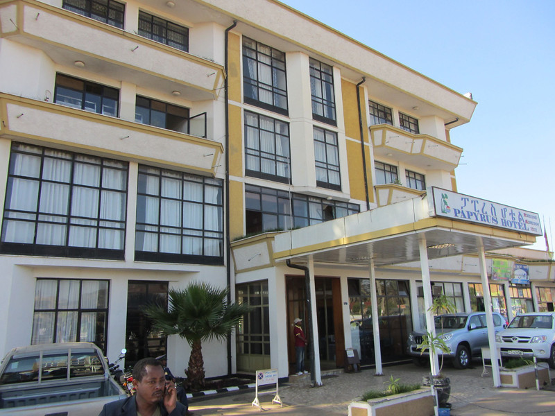 I arrived at the Papyrus Hotel in Bahir Dar after my flight from Addis in time for a 9:00 breakfast.