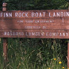 Finn Rock Landing sign