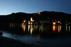 The Danube river in Austria at night
