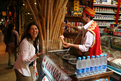trick ice-cream in Istanbul