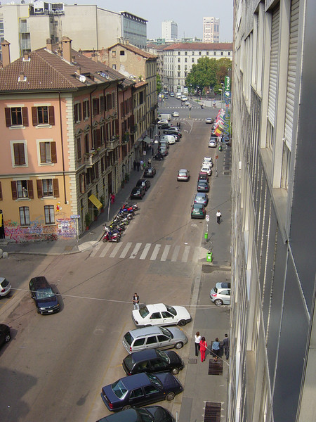 view from Milan hotel balcony