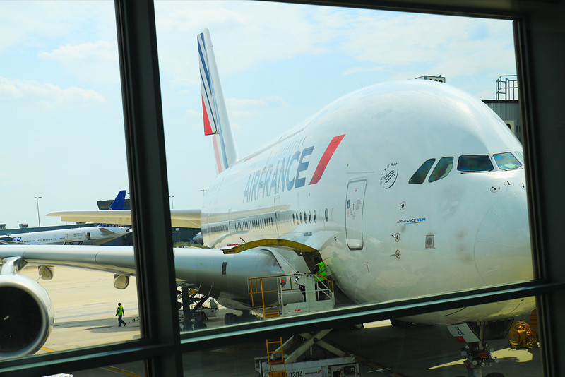 AirFrance Plane to Barcelona, A double decker plane