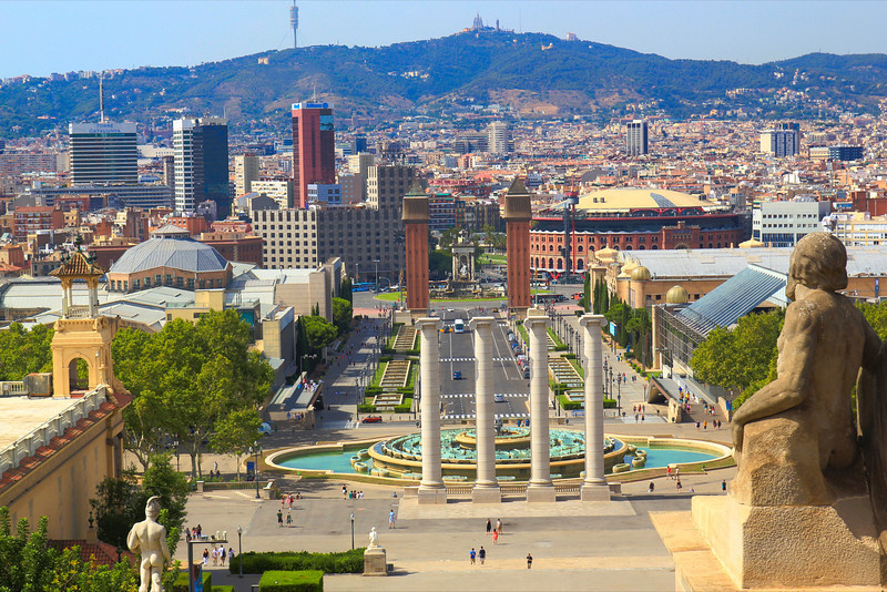 View from Museum of Modern Arts Barcelona