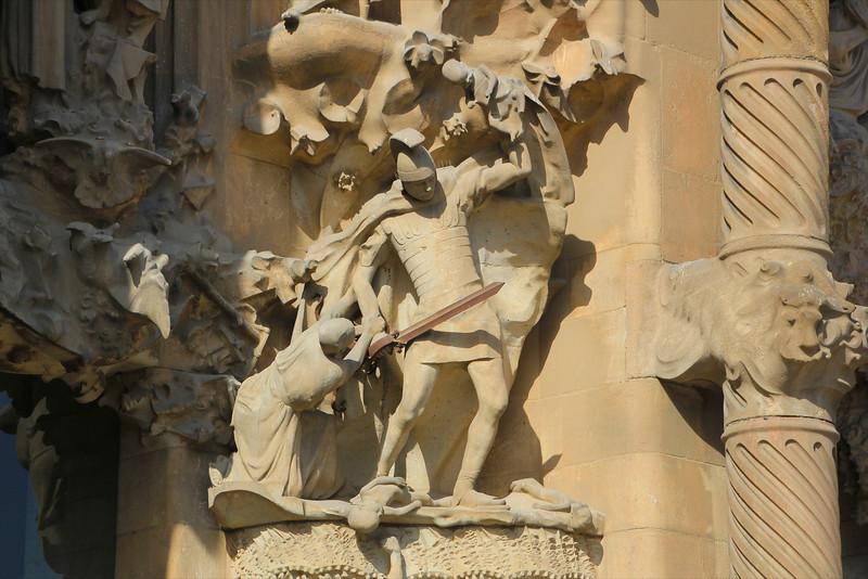 Killing of infants on the Nativity Facade of La Segrada Familia - Antoni Gaudi
