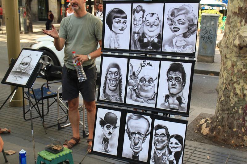 Street artist on Las Ramblas
