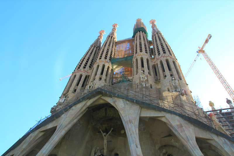 Passion Facade at La Segrada Familia - Antoni Gaudi