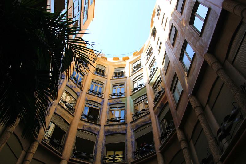 Court yard at La Padrera, Antoni Gaudi architect