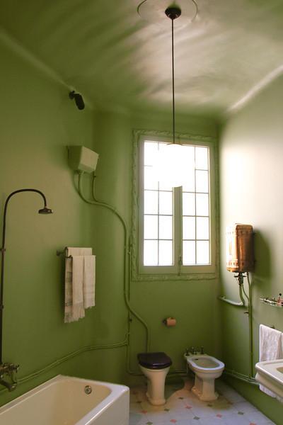 The bathroom at La Padrera, Antoni Gaudi architect