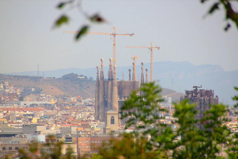 View of La Segrada Familia