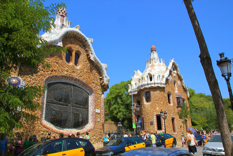 Entrance to Parc Guell, Antoni Gaudi