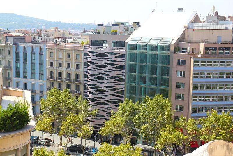 Veiw from rooftop at La Padrera, Antoni Gaudi architect