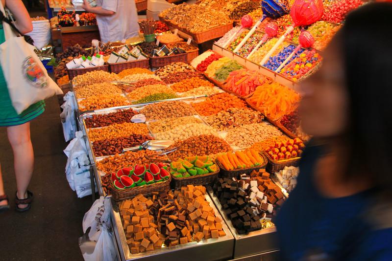 candy at La Boqueria, Las Ramblas Barcelona