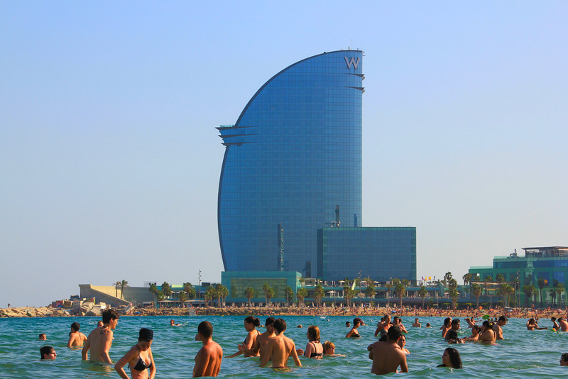 W hotel from  Barcelona Beach