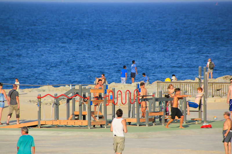 Adult playground Barcelona Beach