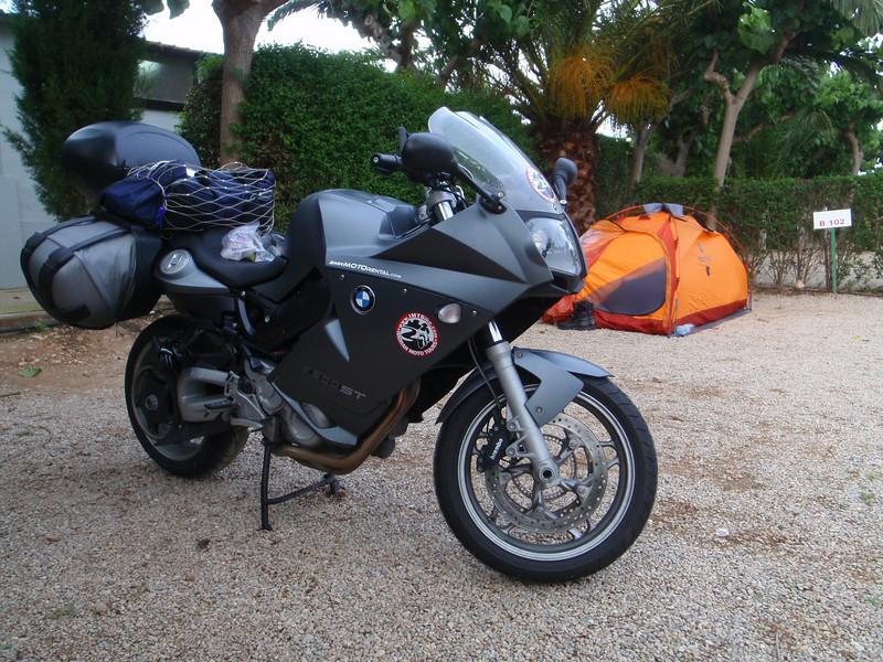 Camping in Vinaros, Spain