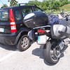 Loaded up bike next to a Fiat Panda 4x4 - I like this car