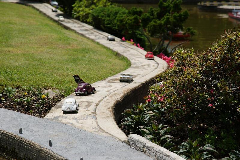 Swiss Miniatur park - Godzilla sparrow!