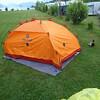 Camping at lake Lucrene.