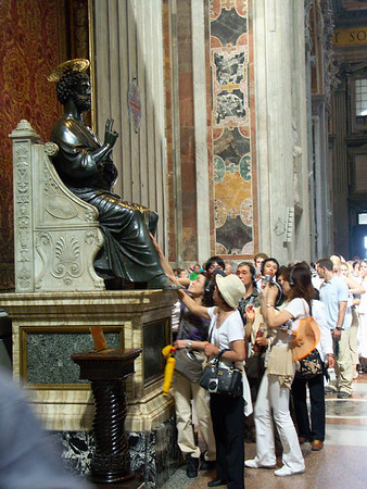 2004-06-09 Rome: Vatican, St. Peter Church, Museum, Sistine Chapel, Mouth of Truth