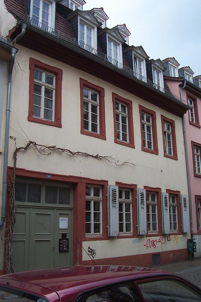 "Street view of Europahaus 1, Derek's ""dorm"" for the year."